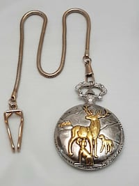 Deer embellished pocket watch