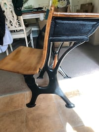 Beautifully refurbished antique school desk