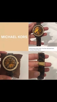 New In the box Michael Kors Gold & Tortoise Shell Watch