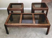 3 Matching Glass Top Coffee & End Tables Murrells Inlet, 29576
