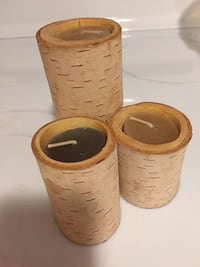 wood birch candle holders Kingston