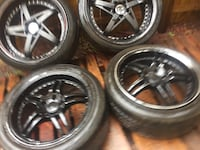 Honda Accord Aftermarket Rims Staggered & Tires  Valrico, 33596