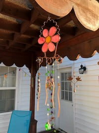 Metal Pink Pearl Stained Glass & Beads Wind Chime Sun Catcher Mobile Nashville, 37209
