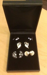4 Pairs of Earrings with Original Box Richmond