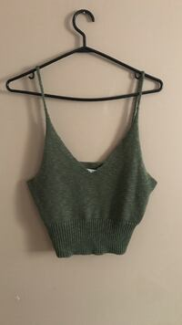 Knit crop top olive  Hamilton, L8H 2E8
