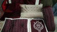 maroon-white-and-beige bedroom pillows Canal Winchester, 43110