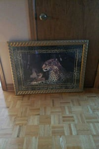 Gold framed printed leopard picture Vaughan, L4L 2T7