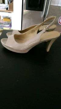 pair of nude leather peep-toe platform pumps Arlington, 22201