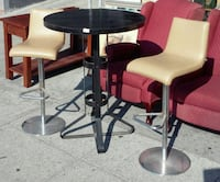 "#18238 42"" Tall Table and 2 Adjustable Stools Oakland, 94610"