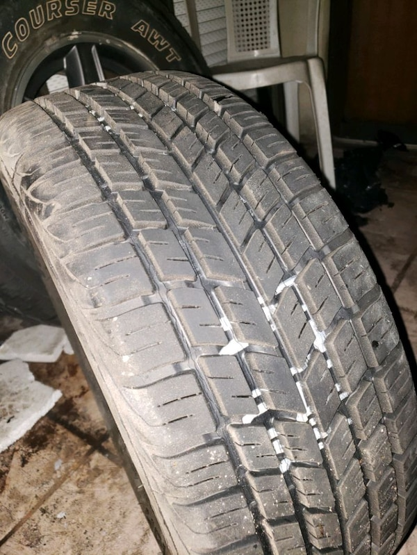 Used tire and rim 1