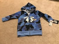 Blue and black camouflage BRAND NEW zip-up hoodie Clarington, L1C 3K4