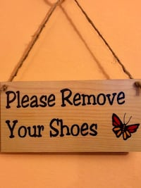 Please Remove Your Shoes Plaque Butterfly Door Sign Office Home Nashville, 37209