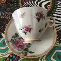 Lovely Vintage cup and saucer Laval, H7W