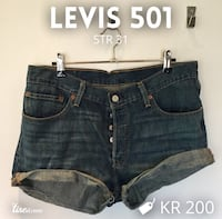 blå denim levis 501 cut off shorts Høvik, 1363