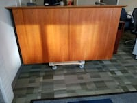 All Wood Veneer Credenza with Hidden TV Compart. Silver Spring