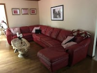 Red Leather Couch Sectional Fairfax, 22030