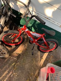 toddler's red and black bicycle Stockton, 95206