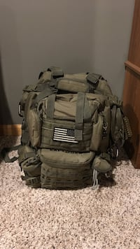Brown tactical backpack