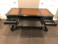 Black writers desk with leather insert Omaha, 68132