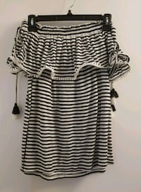 women's white and black stripe dress Toronto, M2N 7C3