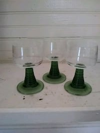 two green and one white glass vases Buford, 30518