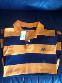 blue and yellow striped aeropostale polo shirt Lakeshore, N8M