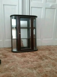 Mohogany wooden framed glass display cabinet Berkeley Heights, 07922