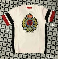 white and red crew-neck shirt Montreal, H1G