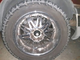 20 inch chrome rims 5lug universal