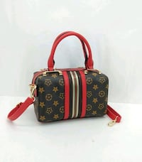 borsa in pelle Louis Vuitton marrone e rossa Monteviale, 36050