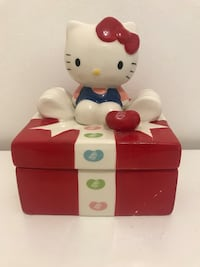 White and red hello kitty plastic toy