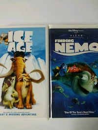 Ice Age and Finding Nemo vhs tapes Baltimore
