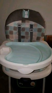 baby's white and gray high chair Edmonton, T5T 1M4