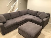 Sectional Sofa with Storage Ottoman Rockville