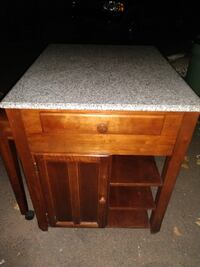 Granite top kitchen island with slide out table North Haven, 06473