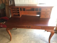 2 wood computer desks $100 each with top organizer $25 separately WESTMINSTER