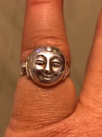 Sterling silver Buddha ring, size 7