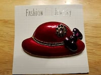Red Hat pin with purple bow Burtonsville