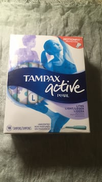 Tampax Pearl Active Lite Plastic Tampons, Unscented, 18 Count Toronto, M2N 4H5