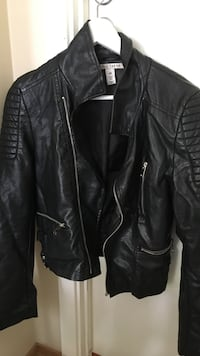 Faux leather jacket size 40
