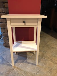 white wooden single-drawer side table 69 km