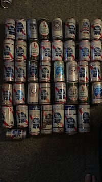 Pabst beer can collection.
