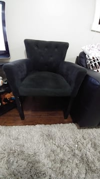 black suede padded sofa chair Delta, V4C 2L7