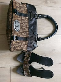 Vintage Christian Dior handbag and heels brown l Milano, 20134