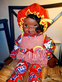 Unique Reversable Face Vintage African American Doll was used for Deco Woodbridge, 22192