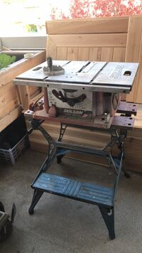 Table saw and stand works but missing fence  Port Coquitlam, V3B 7V1