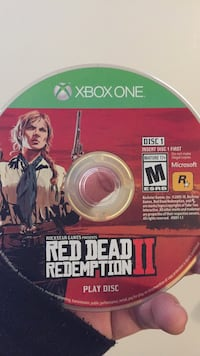 Red dead redemption 2 xbox 1 game disc Crest Hill
