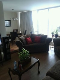 black leather sofa set with coffee table Hamilton