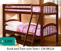 Bunk bed twin over twin  Santa Fe Springs