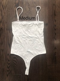 White Square Neck Bodysuit